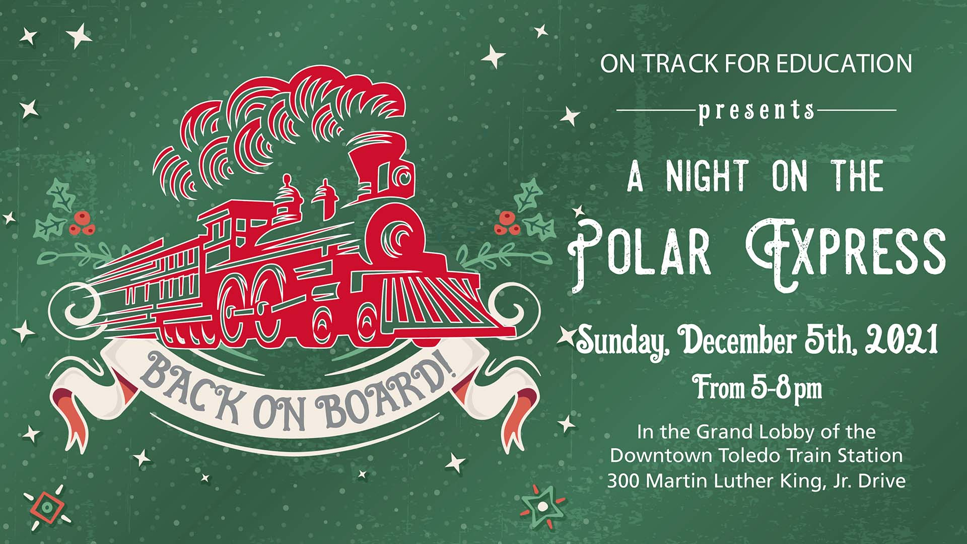 A night on the Polar Express 2021 banner